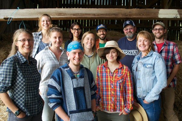 Group shot of the Ignatius Farm team